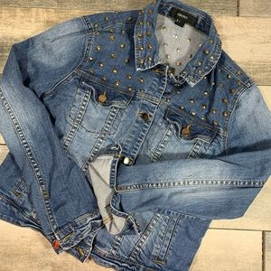 {Forever 21} studded jean denim jackets